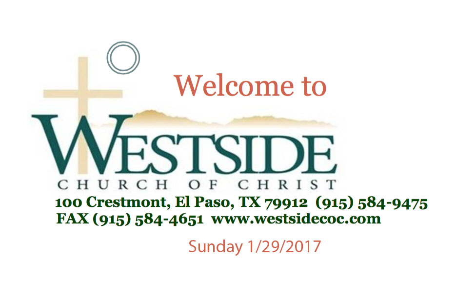 Westside Handout 1/29/2017