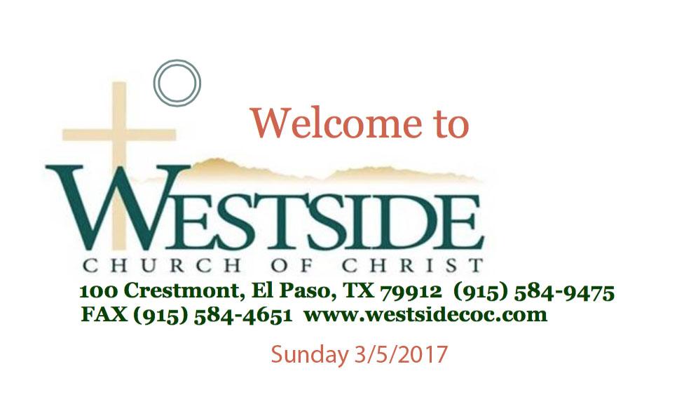 Westside Handout 3/5/2017
