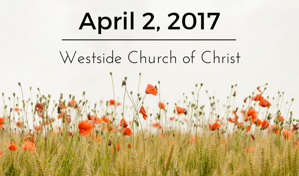 News for April 2, 2017 for Westside Church of Christ in El Paso, Texas