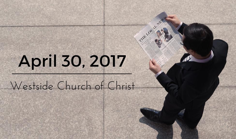 Westside News for April 30, 2017
