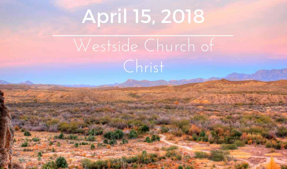 Westside News for April 15, 2018
