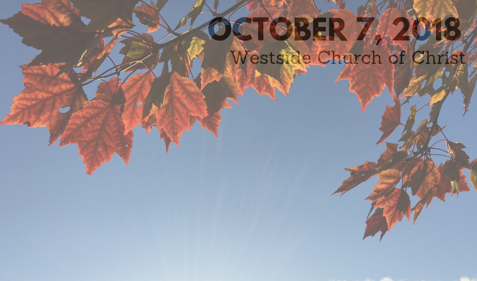 Westside News for October 7, 2018